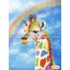 Схема для вышивки бисером Радужный жираф