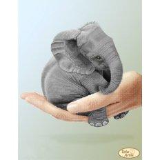 Схема для вышивки бисером Крошка слоненок