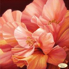 фото: картина для вышивки бисером, красные цветы
