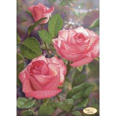 фото: картина для вышивки бисером розовые розы