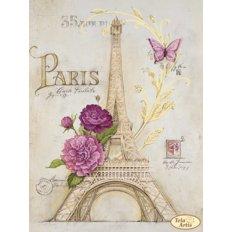 Схема для вышивки бисером Из Парижа с любовью