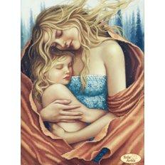 фото: картина для вышивки бисером, мама с дочкой