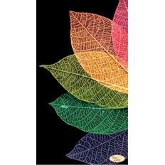 фото: картина для вышивки бисером, разноцветные листья
