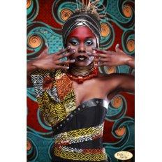 фото: картина для вышивки бисером, Африканка