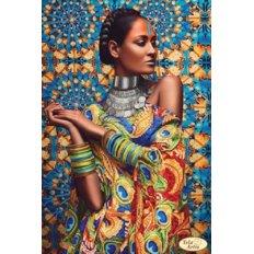 фото: картина для вышивки бисером, Африканская девушка