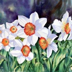 фото: картина для вышивки бисером, Нарциссы