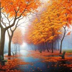 фото: картина для вышивки бисером, Осенняя аллея