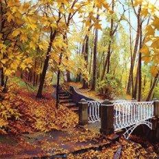 фото: картина для вышивки бисером, Мост в осень