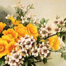 фото: картина для вышивки бисером, Эшольция и жасмин