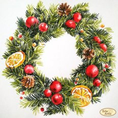 фото: картина для вышивки бисером, Венок с лимонами