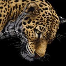 фото: картина, вышитая бисером, Ягуар