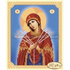 Схема для вышивки бисером иконы Божья Матерь Семистрельная