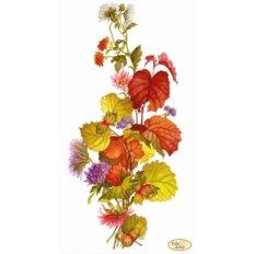 фото: картина для вышивки бисером, Лещина и хризантемы