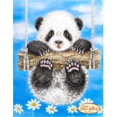 Схема для вышивки бисером Ромашковая панда