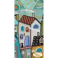 Схема для вышивки бисером Сказочный город - 2