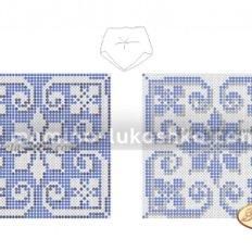 Схема для вышивки бисером Бискорню Голубая снежинка