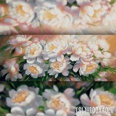 фото: картина в алмазной технике Букет белых пионов