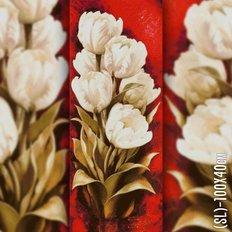 фото: картина в алмазной технике Букет белых тюльпанов