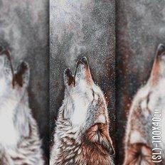фото: картина в алмазной технике Волчий Вой