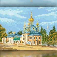 фото: картина в алмазной технике Церковь