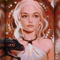 фото: картина в алмазной технике Дейенерис Таргариен
