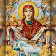 изображение: икона Покров Пресвятой Богородицы в алмазной технике