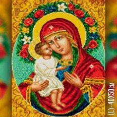 изображение: икона Божией Матери Жировицкая в алмазной технике