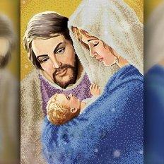 изображение: икона в алмазной технике Святое Семейство