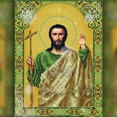 изображение: икона в алмазной технике с религиозным сюжетом