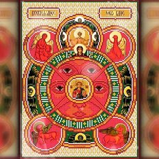 изображение: икона в алмазной технике Всевидящее око