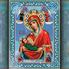 изображение: икона в алмазной технике икона Божией Матери Млекопитательница