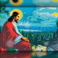 изображение: икона в алмазной технике икона Иисус Христос