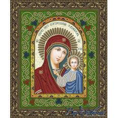 Схема для вышивки бисером Икона Образ Пресвятой Богородицы Казанская