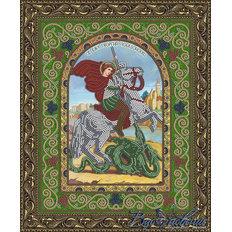 Схема для вышивки бисером Икона Святой Великомученик Георгий Победоносец