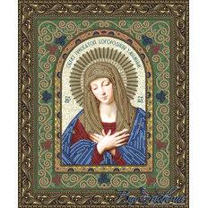 Схема для вышивки бисером Икона Образ Пресвятой Богородицы Умиление