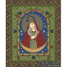 Схема для вышивки бисером Икона Образ Пресвятой Богородицы Остробрамская