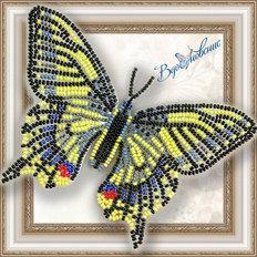 Набор для вышивания бисером на пластиковой канве Бабочка Махаон