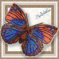 Набор для вышивания бисером на пластиковой канве Бабочка Агриас Нарцисс