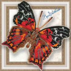Набор для вышивания бисером на пластиковой канве Бабочка HYPANARTIA KEFERSTEINI