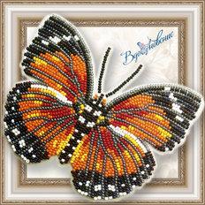 фото: бабочка из бисера «Euphaedra Eleus»