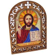 фото: набор для вышивки бисером по дереву, Икона Господь Вседержитель