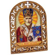 фото: набор для вышивки бисером по дереву, Икона Святой Николай Чудотворец