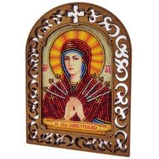 фото: набор для вышивки бисером по дереву, Икона Святая Богородица Семистрельная