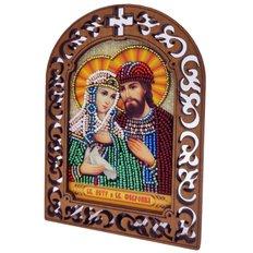 фото: набор для вышивки бисером по дереву, Икона Святой Князь Петр и Святая Княгиня Феврония