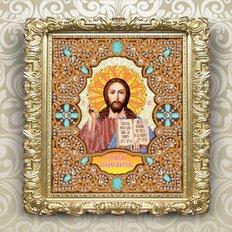 изображение: икона в жемчужном окладе Господь Вседержитель