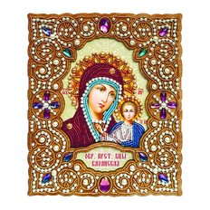 фото: набор для вышивки бисером по дереву Икона Пресвятая Богородица Казанская