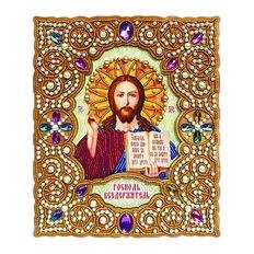фото: набор для вышивки бисером по дереву Икона Господь Вседержитель