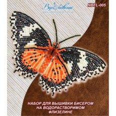 фото: бабочка, вышитая на водорастворимой канве Цитозия Библс