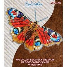 фото: бабочка, вышитая на водорастворимой канве Павлиний глаз дневной