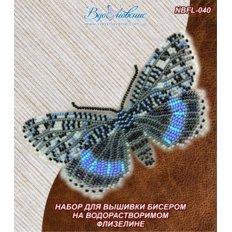 фото: бабочка для вышивки бисером на водорастворимом флизелине